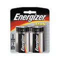Energizer Max D Size Batteries - 2 Pack Retail + Free Shipping