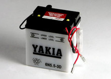 6 Volt 5.5 AMP Motorcycle and Power Sport Battery (6N5.5-3D)
