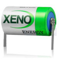 Xeno D Size 3.6V Lithium Battery With Solder Tabs  XL-205FT