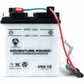6N6-1B 6 Volt 6 Amp Hrs Conventional Power Sport Battery
