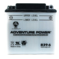 B39-6 6 Volt 7 Amp Hrs Conventional Power Sport Battery