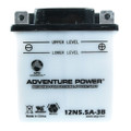 12N5.5A-3B 12 Volt 5.5 Amp Hrs Conventional Power Sport Battery