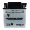 12N7D-3B 12 Volt 7 Amp Hrs Conventional Power Sport Battery