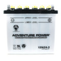 12N24-3 12 Volt 24 Amp Hrs Conventional Power Sport Battery