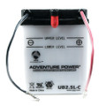 YB2.5L-C 12 Volt 2.5 Amp Hrs Conventional Power Sport Battery