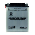 YB14-A2 12 Volt 14 Amp Hrs Conventional Power Sport Battery
