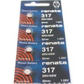 Renata 317 - SR516 Silver Oxide Button Battery 1.55V - 5 Pack + FREE SHIPPING!