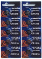 Renata CR1216 3V Lithium Coin Battery - 10 Pack + FREE SHIPPING!