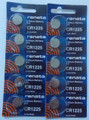 Renata CR1225 3V Lithium Coin Battery - 10 Pack + FREE SHIPPING!