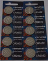 Renata CR2032 3V Lithium Coin Battery - 10 Pack + FREE SHIPPING