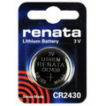 Renata CR2430 3V Lithium Coin Battery 5 Pack + FREE SHIPPING!