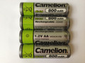 Camelion AA Rechargeable NiCD Batteries 800mAH 12 Pack + FREE SHIPPING!