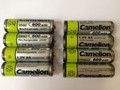 Camelion AA Rechargeable NiCD Batteries 600mAH 12 Pack + FREE SHIPPING!