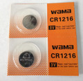 BBW CR1216 3V Lithium Coin Battery 2 Pack -  FREE SHIPPING!