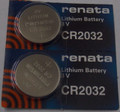 Renata CR2032 3V Lithium Coin Battery - 2 Pack + FREE SHIPPING
