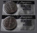 Energizer CR2032 3V Lithium Coin Battery - 2 Pack + FREE SHIPPING