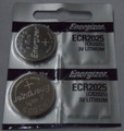 Energizer CR2025 3V Lithium Coin Battery - 2 Pack + FREE SHIPPING