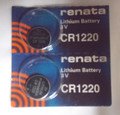 Renata CR1220 3V Lithium Coin Battery - 2 Pack + FREE SHIPPING!