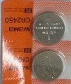 BBW CR2450 3V Lithium Coin Battery 2 Pack - FREE SHIPPING!