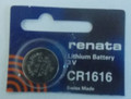 Renata CR1616 3V Lithium Coin Battery 2 Pack + FREE SHIPPING