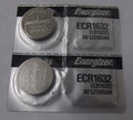Energizer CR1632 3V Lithium Coin Battery - 2 Pack +  FREE SHIPPING!