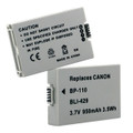 CANON BP-110 3.7V 950MAH BATTERY + FREE SHIPPING