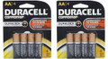 Duracell Coppertop Duralock AA - Original Retail 8 Pack Carded + FREE SHIPPING!