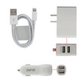 DUAL PORT USB HOME/CAR CHARGE W/ APPLE CABLE COMBO + FREE SHIPPING