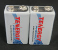 Tenergy Premium 9V NiMH 200mAh mAh Rechargeable Batteries - 2 Pack + FREE SHIPPING!