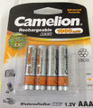Camelion Advanced Formula AAA Rechargeable NiMH Batteries 1000mAh 4 Pack Retail + FREE SHIPPING!