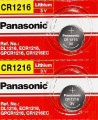 Panasonic CR1216 3V Lithium Coin Battery - 2 Pack + FREE SHIPPING!