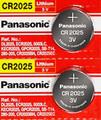 Panasonic CR2025 3V Lithium Coin Battery - 2 Pack + FREE SHIPPING!