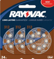 Rayovac Hearing Aid Batteries Size 312 - 24 Batteries + FREE SHIPPING!