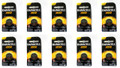Duracell CR2032 Coin Battery - 10 Pack + FREE SHIPPING