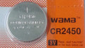 BBW CR2450 3V Lithium Coin Battery 1 Pack - FREE SHIPPING!