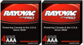 Rayovac Alkaline UltraPro AAA Batteries Vending Boxes - 2 Boxes of 4 + FREE SHIPPING