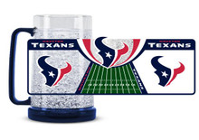 16Oz Crystal Freezer Mug NFL - Houston Texans