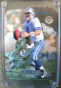 1997 Upper Deck Troy Aikman Lenticular Cards