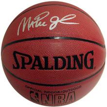 Magic Johnson Autographed Indoor/Outdoor Spalding Basketball