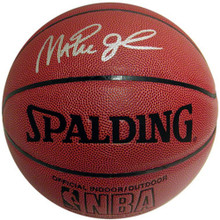 Magic Johnson Autographed Indoor/Outdoor Spalding Basketball