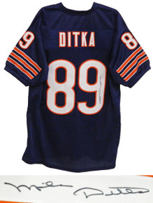 Mike Ditka Signed Navy Custom Chicago Bears Jersey
