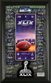 Seattle Seahawks Super Bowl 49 Signature Ticket
