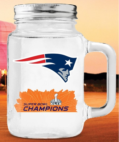 2015 Super Bowl Champion Glass Mason Jar  - 20 oz.