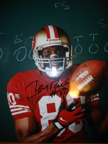 Autographed Jerry Rice San Francisco 49ers 8x10 Photograph