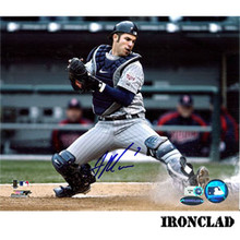 Joe Mauer Minnesota Twins Autographed 8x10 Photo Blocking Plate w/ #7 Inscription