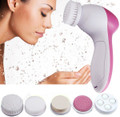 5 in1 Electric Facial Cleanser with Spa Exfoliator & Blackhead Remover