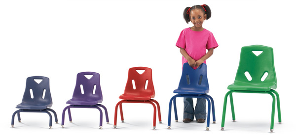 Plastic Preschool Chairs in Multiple Sizes
