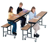 bench tables - Cafeteria Tables