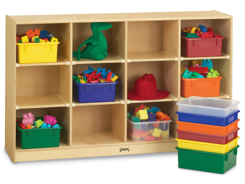 Jonti Craft 0305jc Birch 12 Cubby Storage Unit