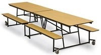 bench style cafeteria table